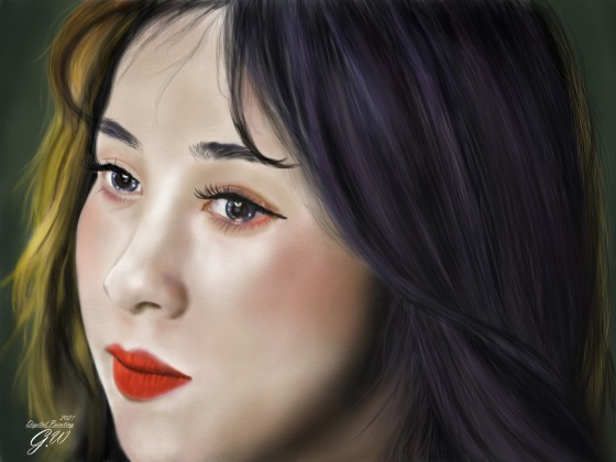 Frauen Portrait Digital