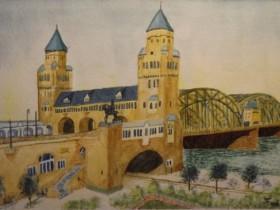 Hohenzollernbrücke um 1900