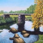 Steinplattenbrücke