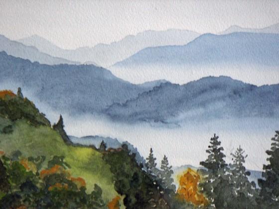 Früher Morgen in den Bergen