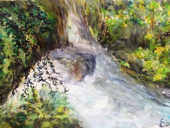 Am Leyenbach-Wasserfall